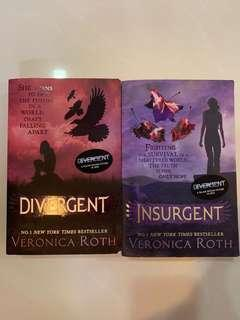 Divergent and Insurgent (book clearance sale!!)