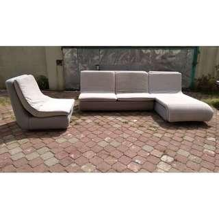 Kerusi Sofa Set L-Shape + 1 * M20 B