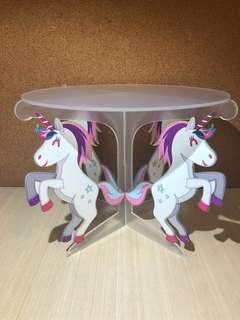 Dessert Table Rental Props - Unicorn Acrylic Cake Stand