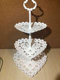Dessert Table Rental Props - 3 tier Heart Shape Stand
