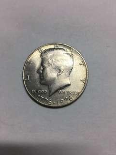 1776-1976 United States Of America 100years Of Freedom Half Dollar