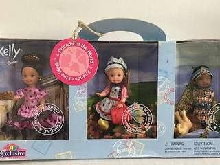 BARBIE KELLY Friends of the World Set New with Box