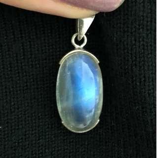 激罕強藍光全清月亮石吊咀 Crystal clear & wIth blue luminance moonstone pendant