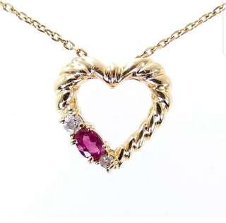 18k Ruby & Diamond Necklace