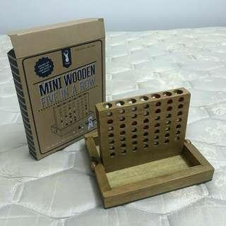 Mini Wooden 'Five In A Row'