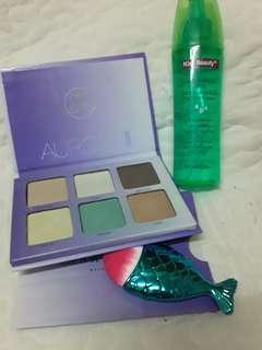 Glow Kit+Makeup Spray+Mermaid Brush