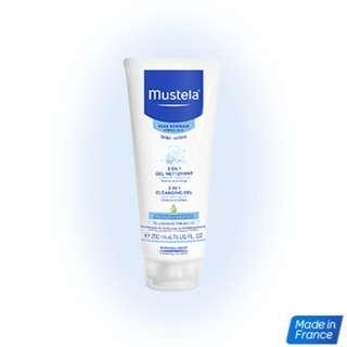 Mustela 2 in 1 Cleansing gel 200ml *new*