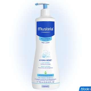 Mustela Hydra Bébé® Body lotion 300ml  *used once* + 2pcs x 5ml samples