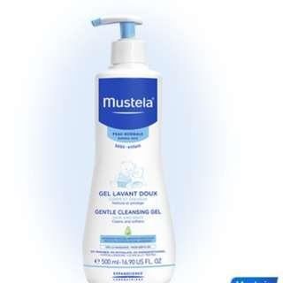 Mustela Gentle cleansing gel 500ml *new*