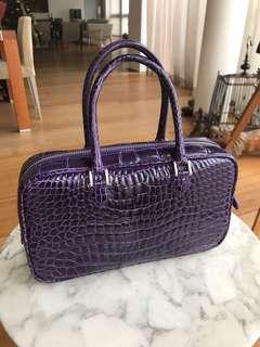 Alligator Bag in Stunning Purple