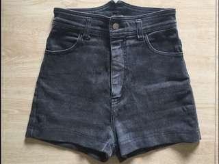 Puppy Brand high waist black denim shorts