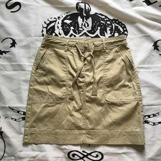 Banana Republic Khaki x Ripped Cargo Skirt