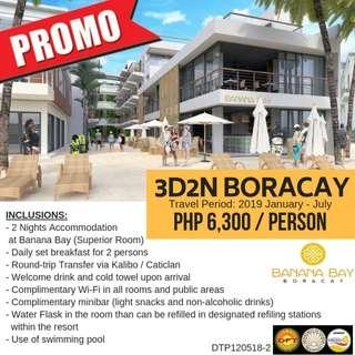 Promo: 3D2N Boracay Tour Package (Banana Bay)