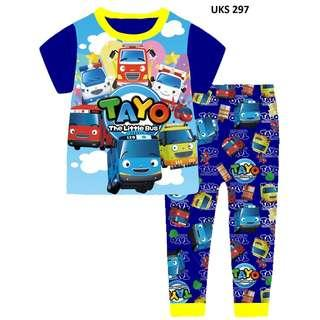 Tayo The Little Bus  Short Sleeve Pyjamas for 2 to 7 yrs old