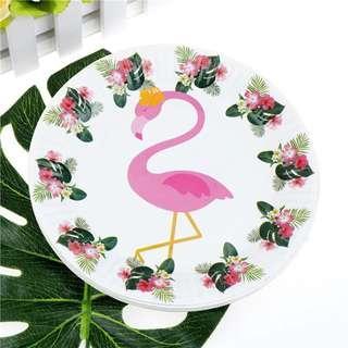 Flamingo Paper Cups & Plates Set