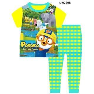 Pororo The Little Penguin Short Sleeve Pyjamas for 2 to 7 yrs old