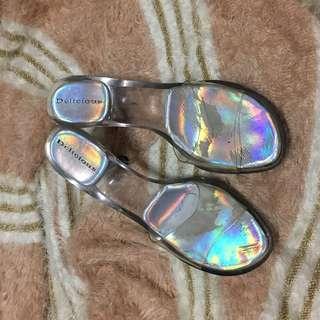 Glass slipper inspired sandal