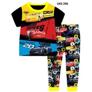 Car 95  Short  Sleeve Pyjamas for 2 to 7 yrs old