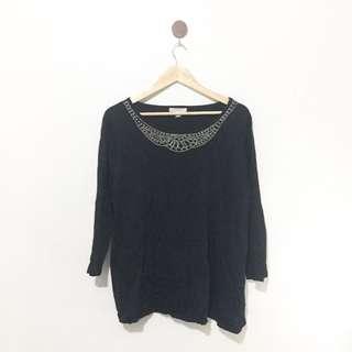 Black beaded blouse