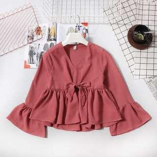 (Preorder) babydoll blouse