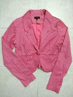 (BN)Polka dots pink blazer