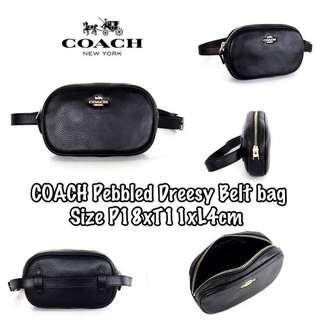 Coach pebbled dreesy belt bag