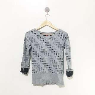 H&M stars gray pullover