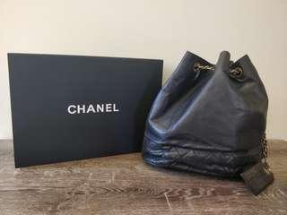 Authentic vintage Chanel lambskin bucket bag
