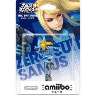 BRAND NEW Nintendo Amiibo Zero Suit Samus WiiU Wii U 3DS XL 3DSXL For Game Gaming Console