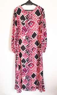 Kassa Abstract Jubah Dress