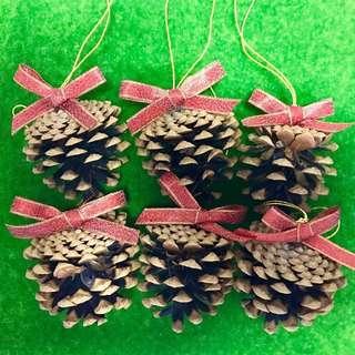 🈹 $75/6 pcs Natural Pine Cone for Christmas Tree 聖誕樹天然松果