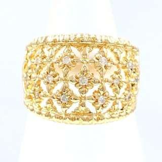 18k Diamond Ring - Wide Band