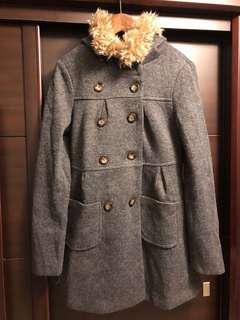 🚚 連帽厚毛衣長版外套