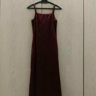 MINNA Long Velvet Evening Dress