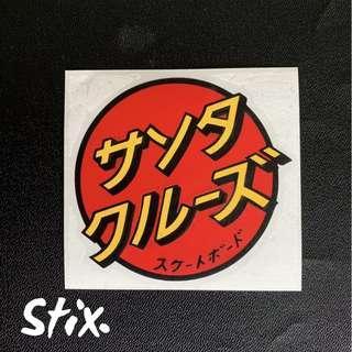 Santa Cruz Japanese Vinyl Cut Sticker