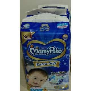Mamypoko extra dry extra soft tape diaper L-size (3packs)