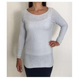 TRENERY by COUNTRY ROAD Baby Blue Wool & Cashmere Jumper Sweater Sz XS
