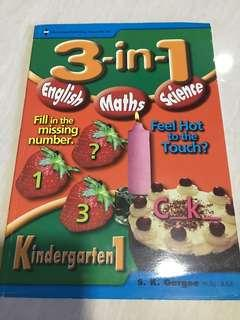 3 in 1 English math science