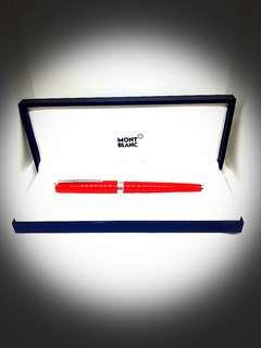 @Pre-loved MONT BLANC Pix Coral Resin Rollerball Pen 114813