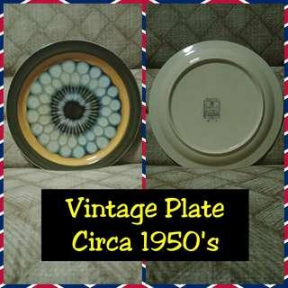 Vintage Plate by Electra Casual Ceram