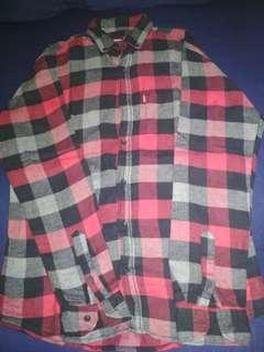 Levi's kemeja flannel slim fit checkered