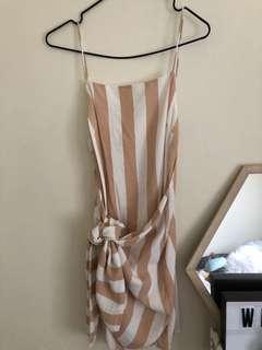 Sabo Skirt Striped Wrap Dress