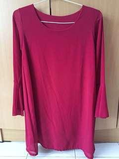 Red Dress Chifon