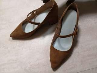 Millie's Millies heels 2018秋冬新款鴕色高跟鞋