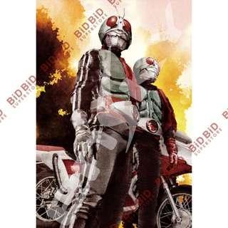 Kamen Rider 幪面超人 1號 2號 Jigsaw Puzzle 砌圖 拼圖 300pcs 日本製 菅原芳人 作品 昭和騎士 假面騎士 Masked Rider 洪大龍 藤岡弘 洪飛虎