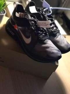 Off White Black Zoom Fly US9