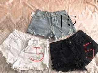 Denim shorts size 8/mid