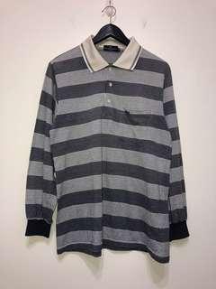 伏見古著 條紋polo衫 復古上衣 vintage