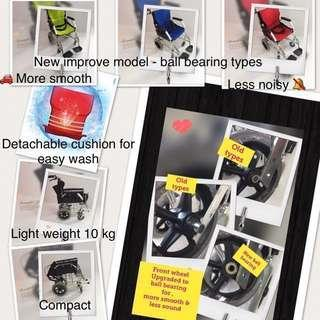 $185 free traveling bag - Ready stock -Brand New  Light Weight Aluminium Wheelchair / pushchair for sales