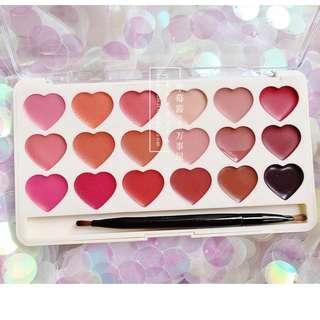 [PO] Heart lipstick palette